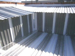 Vertical Steel Laps Sealed