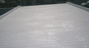 Elastomeric emulsion over shingles