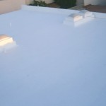 Elastomeric emulsion over concrete roof 1