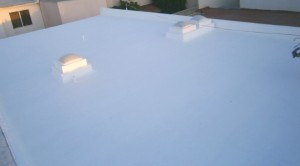 Elastomeric emulsion over concrete roof 1