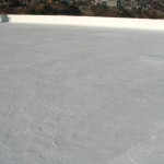 Elastomeric emulsion over concrete roof 2
